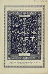 Advert for the Magazine of Art